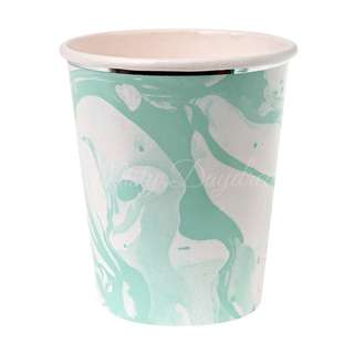 Marble Cups (Set of 8) – Mint