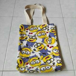 Minion canvas tote bags