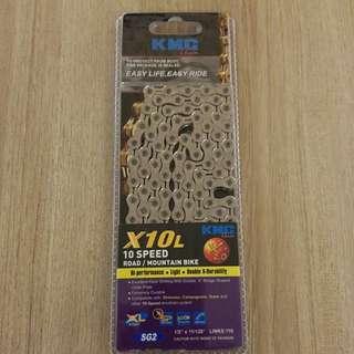 KMC Chain X10L Silver 10S