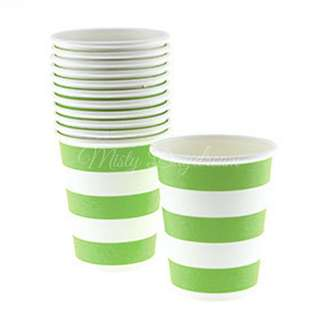 Classic Stripe Cups Value Pack (Set of 12) – Apple Green