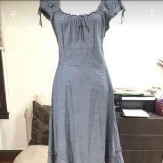Soft denim Maxi dress M&S