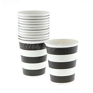 Classic Stripe Cups Value Pack (Set of 12) – Black
