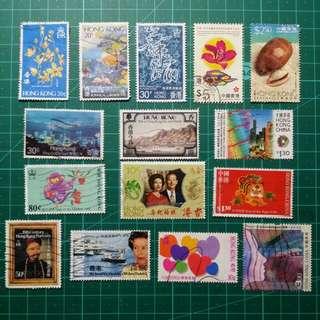 香港紀念舊票15枚