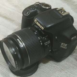 Canon 550D with kit Len 18_55 mm.