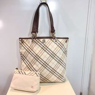 Burberry Blue Label Tote Bag w/ Purse