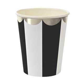 Stripe Cups (Set of 8) – Black