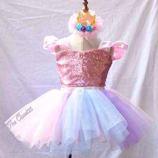 Butterfly Sequence Top,  Tutu Skirt & crown - Unicorn inspired .