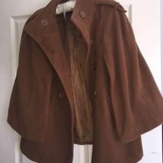 Brown cape jacket