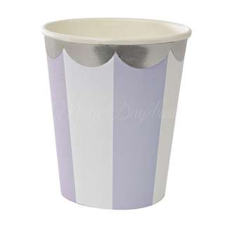 Stripe Cups (Set of 8) – Lavender