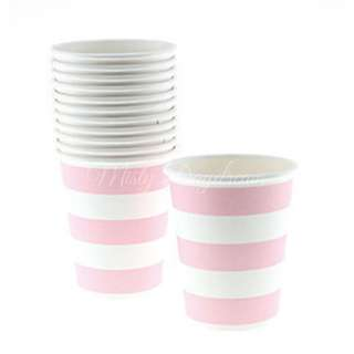Classic Stripe Cups Value Pack (Set of 12) – Light Pink