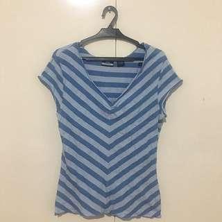 DCC V-Neck Striped Shirt