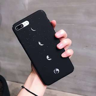 (PO) Moon Eclipse Night Sky Stars Frosted Hard iPhone Casing