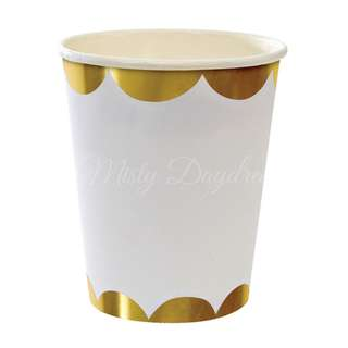 Foil Scallop Cups (Set of 8) – Gold