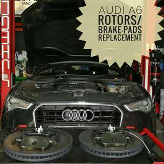 Audi A6 :Original Front_Rotors & Brake_Pads Replacement