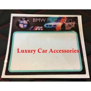 BMW CAR ROADTAX STICKER