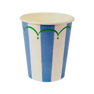 Toot Sweet Stripe Cups (Set of 8) – Blue