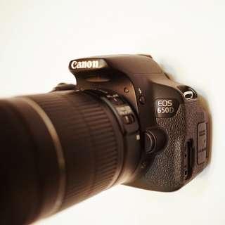 Canon EOS 650D & Canon Zoom Lens 55-250mm