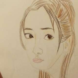 Angelabady素描