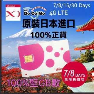 日本7日無限上網卡