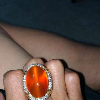 Orange Chalcedony + Memo