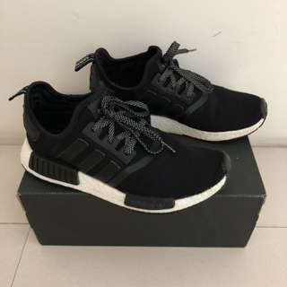Sepatu Adidas NMD R1 Black Reflective Original