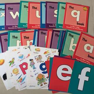 Sunshine Alphabet Books + Activity Books + Flash cards