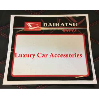 DAIHATSU CAR ROADTAX STICKER ROAD TAX
