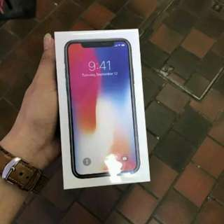 Iphone X 256gb new garansi 1 tahun internasional
