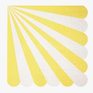 Stripe Napkins (Set of 20) – Yellow