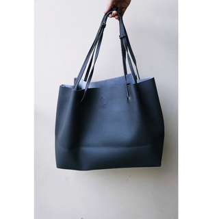 OVERSIZED TOTE BAG (GRAY)