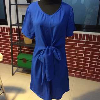 Blue Dress with Knot