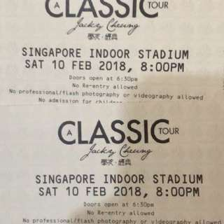 """Jacky Cheung """"A Classic Tour"""" 2018"""