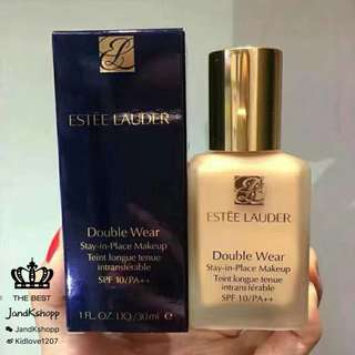 (專櫃)ESTEE LAUDER Double Wear Stay-in-Place Makeup SPF 10 Double Wear 持久防曬粉底 SPF 10/ PA++ 30ml