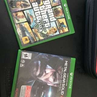 XBOX ONE GAME GTA V AND MGS V TPP