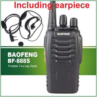 🔥$35/pc🔥 BaoFeng BF-888S Walkie Talkie UHF 400-470MHz Two Way Radio Transceiver INCLUDING EARPIECE!