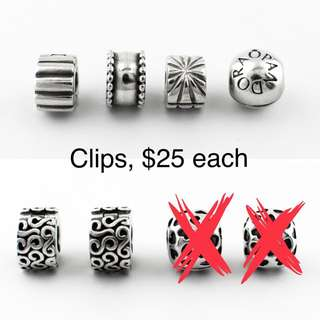 Pandora clips charms $25 each