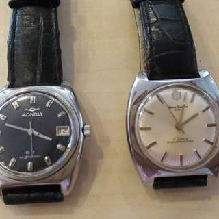 Swiss Mondial & Henri Sandoz Watch Winding