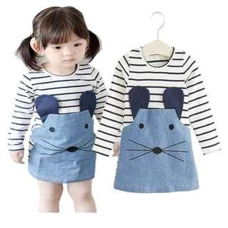P/O little mouse girls dress