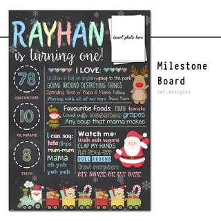 Birthday Milestone Chart / Board