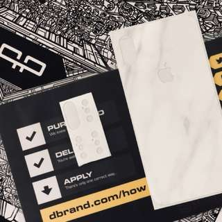 Original Dbrand Skin for IPHONE X  Marble White