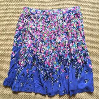 Branded Floral Skirt