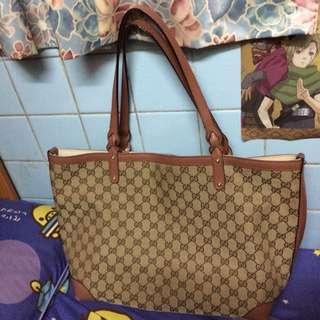 粉紅色Gucci手挽袋(大Size)