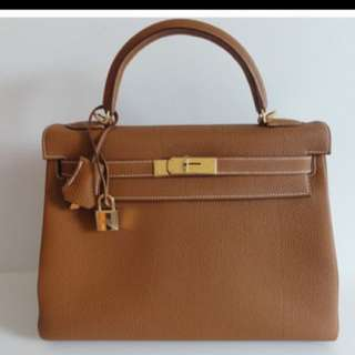 Hermes Kelly 32 Togo leather Gold hardware
