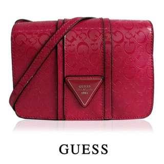 GS131*GUESS LOGO CROSSBODY BAG (RED)
