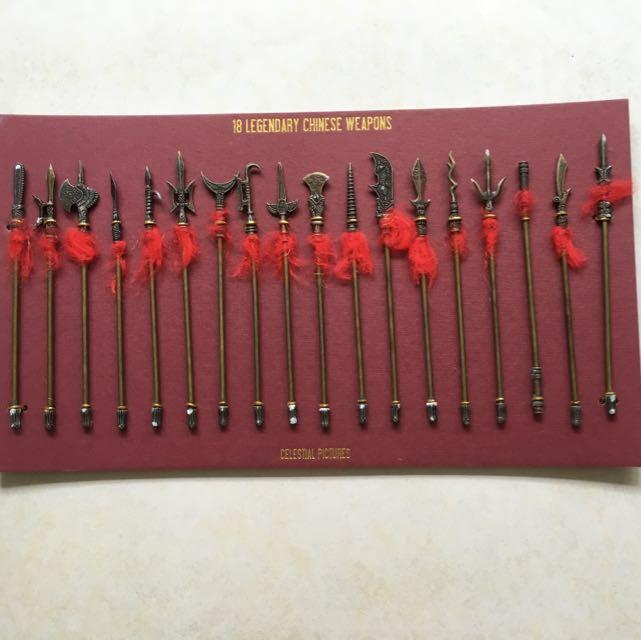 18 Legendary Miniature Chinese Weapons