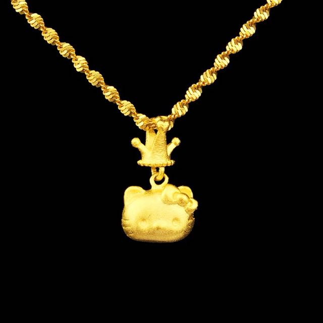 18k gold plated hello kitty necklace