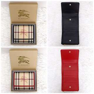 Burberry haymark small trifold wallet