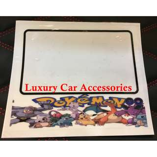 POKEMON CAR ROADTAX STICKER ROAD TAX