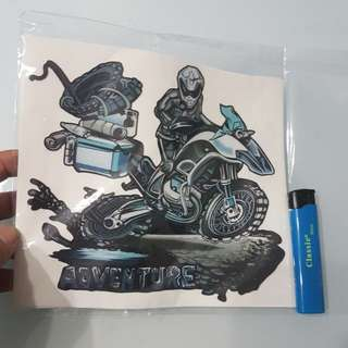 Adventure tape sticker