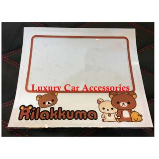 RILAKKUMA CAR ROADTAX STICKER ROAD TAX